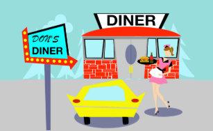 Restaurant Diner Food & Drink   Zazzle