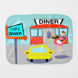 1950's Diner Burp Cloth