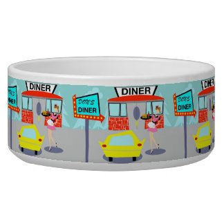 1950's Diner Dog Bowl