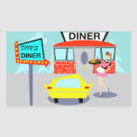 1950's Diner Rectangle Stickers