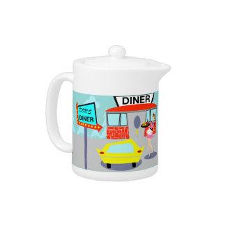 1950's Diner Teapot