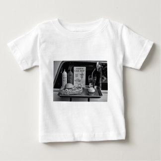 1950's Drive-in B&W Baby T-Shirt