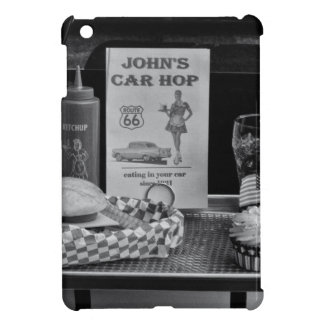 1950's Drive-in B&W Cover For The iPad Mini
