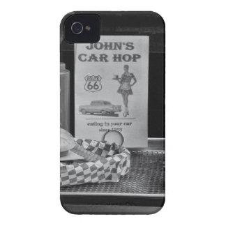 1950's Drive-in B&W iPhone 4 Case-Mate Cases