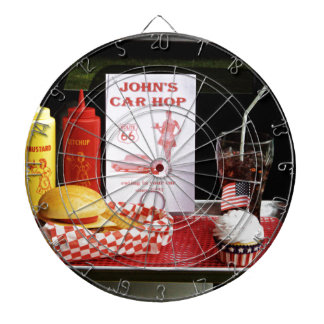 1950's Drive-in Dartboard With Darts