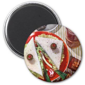 1950's eyeball sandwich 2 inch round magnet