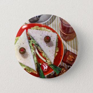 1950's eyeball sandwich pinback button