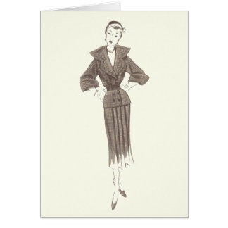 1950's Fashion - Greeting or Note Card
