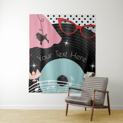 1950's Fifties Dress Up Retro Vintage Party Tapestry
