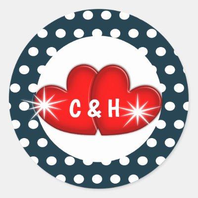 1950s Fifties Rockabilly Retro Cool Wedding Classic Round Sticker