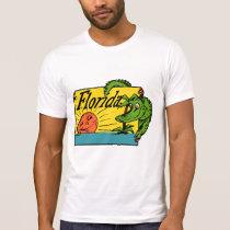 1950s Florida Alligator Design T-Shirt