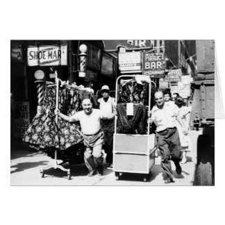 1950's Garment District, New York City Photo Card