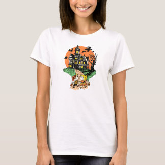 1950s Halloween Trick or Treat Haunted House T-Shirt