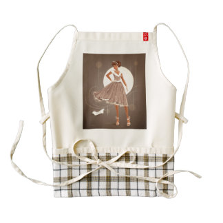 1950's Housewife Zazzle HEART Apron