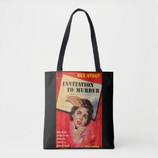 1950s Invitation to Murder Tote Bag