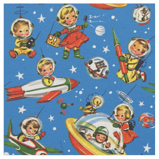 Outer space fabric zazzle for Kids space fabric