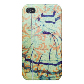 1950's Lady, Etching,Vintage Wallpaper Iphone case Cover For iPhone 4