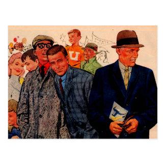 1950s men wearing Hickey-Freeman Postcard