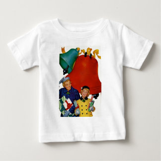 1950s Mom and Daughter Xmas Shopping Baby T-Shirt