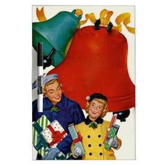 1950s Mom and Daughter Xmas Shopping Dry-Erase Board