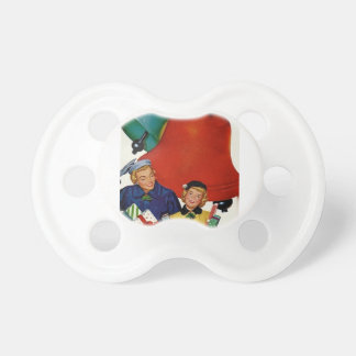 1950s Mom and Daughter Xmas Shopping Pacifier