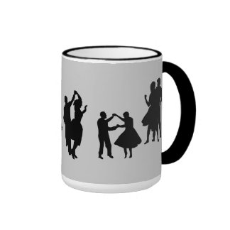 1950s ringer coffee mug