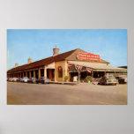 1950's New Orleans view of Café du Monde Poster