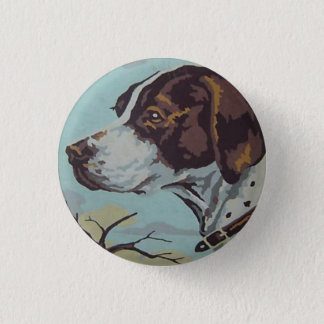 1950s Paint-by-Number English Springer Spaniel Button
