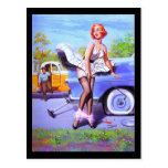 1950's Pin-up Girl Postcard Postcard