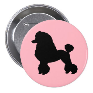 1950's Pink Poodle Skirt Inspired Button
