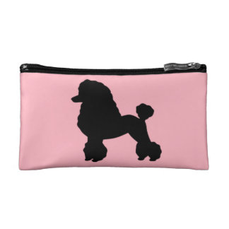 1950s Pink Poodle Skirt Inspired Cosmetic Bag