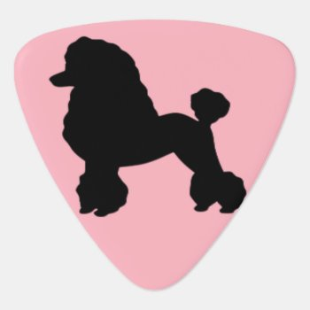 1950s Pink Poodle Skirt Inspired Guitar Picks by StrangeLittleOnion at Zazzle