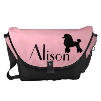 1950s Pink Poodle Skirt Inspired Messenger Bag