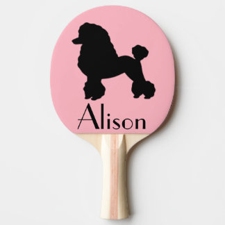 1950s Pink Poodle Skirt Inspired Ping Pong Paddle