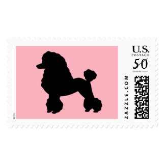 1950s Pink Poodle Skirt Inspired Postage Stamps