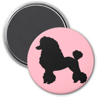 1950's Pink Poodle Skirt Inspired Round Magnet