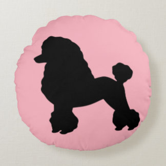 1950's Pink Poodle Skirt Inspired Round Pillow