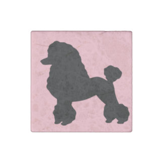 1950's Pink Poodle Skirt Inspired Stone Magnet