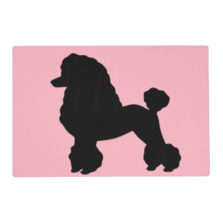 1950's Pink Poodle Skirt Laminated Placemat