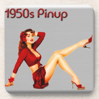 1950's Pinup Beverage Coaster
