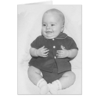 1950's Portrait of Baby Boy Card