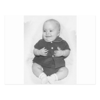 1950's Portrait of Baby Boy Postcard