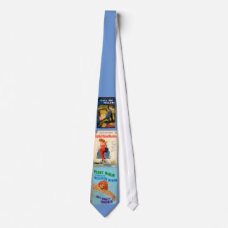 1950s pulp novel covers neck tie