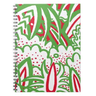 1950s Retro-Art - Christmas Colors Notebook
