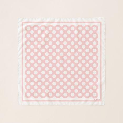 1950's Retro Designer Pink Polka Dots Neck Hair Scarf