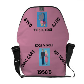 1950's Rock 'n Roll Courier Bag