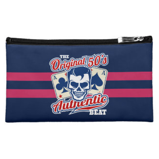 1950's Rockabilly Skull and Aces Cosmetic Bags