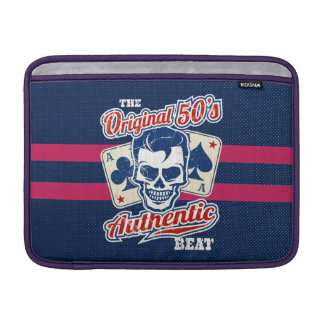 1950's Rockabilly Skull and Aces MacBook Sleeve