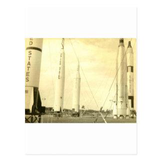 1950's Rocket Postcard