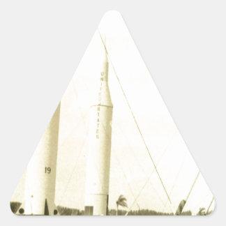 1950's Rocket Triangle Sticker
